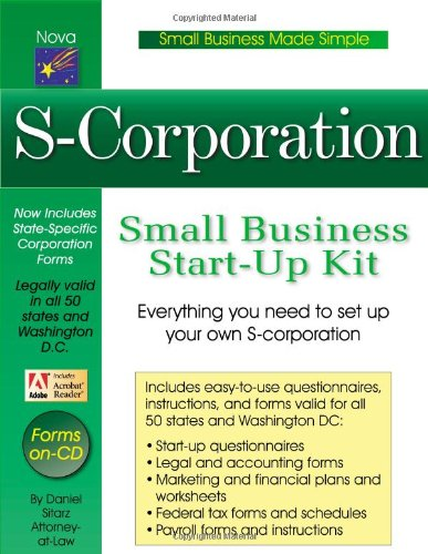 Download S-Corporation: Small Business Start-up Kit (Small Business Made Simple) pdf epub