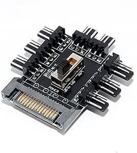 Digitalkey Fan Hub PWM con control de velocidad: Amazon.es ...