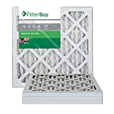 AFB Silver MERV 8 14x14x1 Pleated AC Furnace Air Filter. Pack of 4 Filters. 100% produced in the USA.