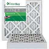FilterBuy 16x16x1 MERV 8 Pleated AC Furnace Air Filter, (Pack of 4 Filters), 16x16x1 – Silver