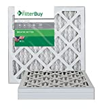 FilterBuy AFB MERV 8 16x20x1 Pleated AC Furnace Air Filter, (Pack of 4 Filters), 14x14x1 - Silver