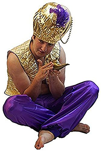 Stage-Panto-Aladdin-Prince NEW! GENIE OF THE LAMP COSTUME with OVERSIZED HAT - All Ages (TEEN)