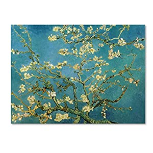 Trademark Fine Art Almond Branches in Bloom 1890 Artwork by Vincent van Gogh, 35 by 47-Inch