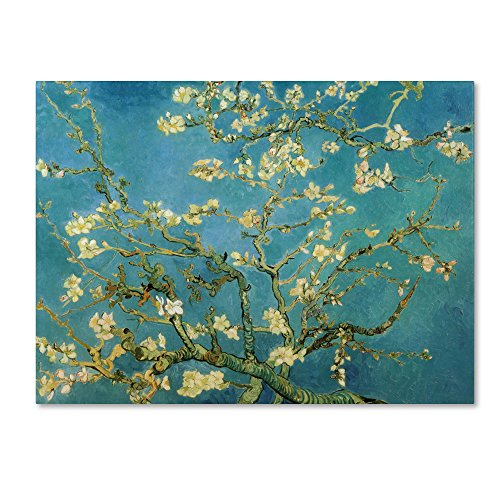 Almond Branches in Bloom 1890 Artwork by Vincent van Gogh, 18 by 24-Inch Canvas Wall Art - Almond Branches