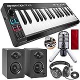 M-Audio Keystation Mini 32 MK3 Portable Mini-USB MIDI Controller with Studio Monitors Platinum Bundle