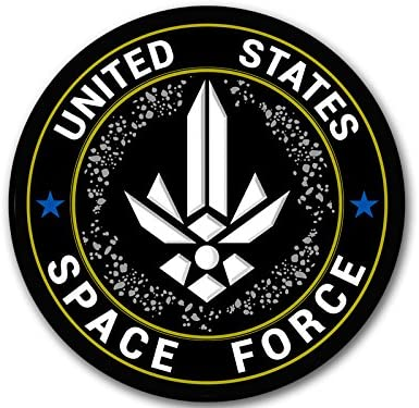American Vinyl Blue NASA Logo Shaped Space Force Sticker Trump Military Insignia Logo Seal