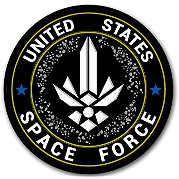 dept of Air Force Trump Insignia Seal Official Round US Space Force Logo Sticker