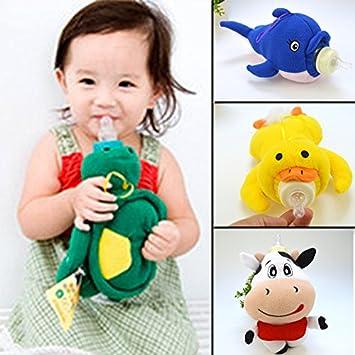 Baby Kids Cartoon Feeding Bottles Bag Lovely Milk Bottle Pouch Cover Toys SL