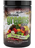 Delicious Greens 8000 Green Food Supplement, Mocha Cafe, 10.6 Ounce