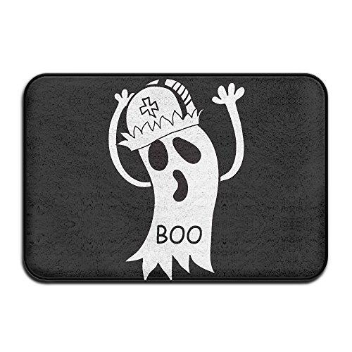 Personalized Halloween Ghost (Halloween Ghost Outdoor Indoor Doormat Personalized Durable Door Mats Non-Slip Floor Mats Rectangle)