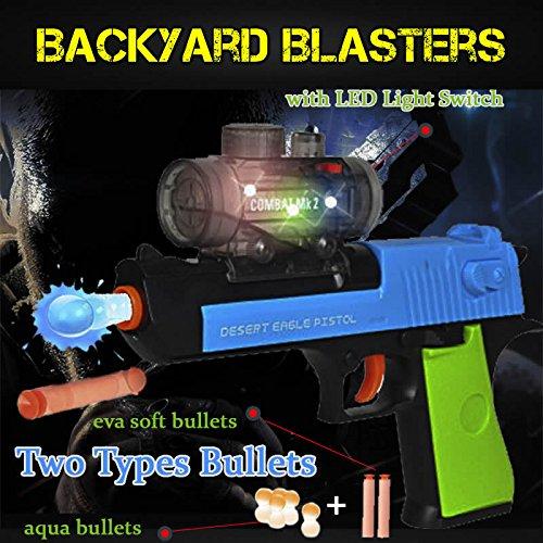 2 in 1 Desert Eagle Hydro gel ball Blaster and Nerf Gun | Backyard Blasters