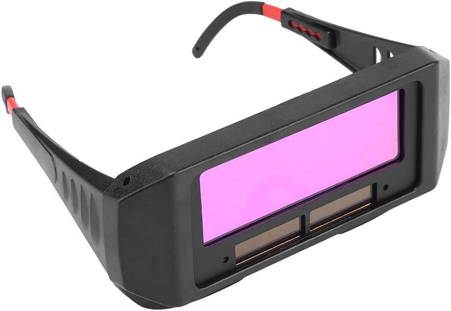 Lunettes de soudure, Lunettes solaires automatiques de soudure d'obscurcissement en couleur noire, Lunettes de Protection de Soudeur pour Protéger vos yeux des étincelles