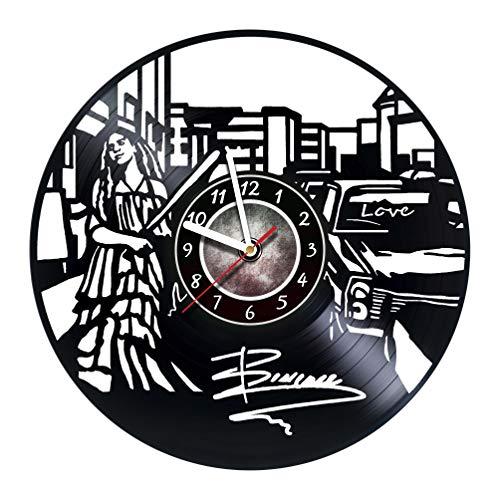 NESTstudio Beyonce - Wall Clock Made of Vinyl
