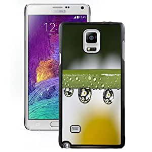 Fashion Custom Designed Cover Case For Samsung Galaxy Note 4 N910A N910T N910P N910V N910R4 Daisies In Water Drops Black Phone Case