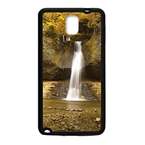 Personalized Clear Phone Case For Samsung Galaxy Note 3,silk waterfall and glam autumn forest