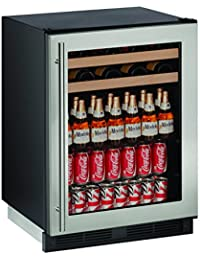 U-Line U1224BEVS00B 24 Built-in Beverage Center, Stainless Steel