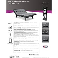 Leggett and Platt S Cape 2.0 Adjustable Bed Base! Free White Glove Delivery! Includes Extended 10 year inhome Warranty! 25 year Total warranty! (Split Cal king (72x84))