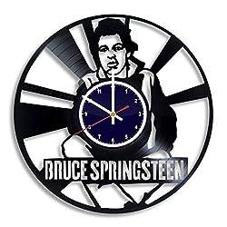BuhnemoShop Bruce Springsteen Handmade Vinyl Record Wall Clock, Bruce Springsteen Wall Poster Unique Kitchen Decor Ideas, Bruce Springsteen Gift for him and her