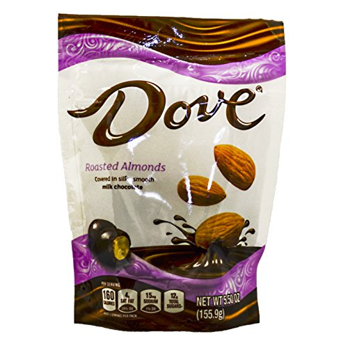 Dove Milk Chocolate Covered Almond Candy Pouch, 5.5 Ounce by Dove