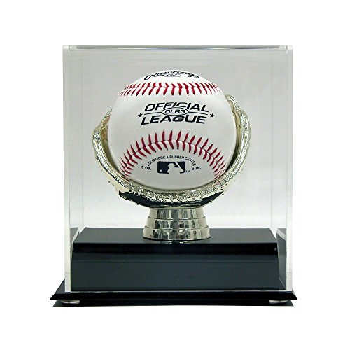 SAFTGARD SUPPLIES Acrylic Gold Glove Baseball Display (Baseball Display Case Gold Glove)