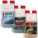 Canna Boost, Cannazym, Rhizotonic Plant Additives Hydroponic Nutrient Bundle (250mL)
