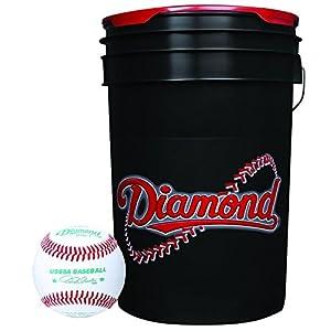 Diamond 6-Gallon Ball Bucket with 30 USSSA DOL-1 Baseballs