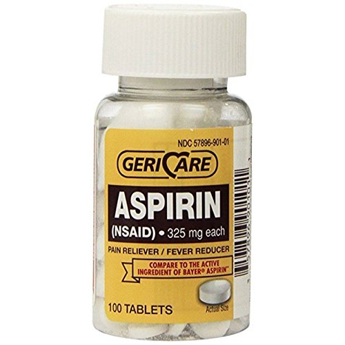 Bulk Aspirin 325mg - 6 Bottles of 100 Non-coated Aspirin Tablets ()