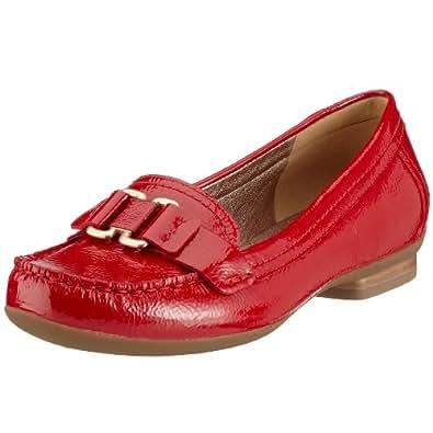 Ecco - Mocasines de charol para mujer, color rojo, talla 41: Amazon.es: Zapatos y complementos