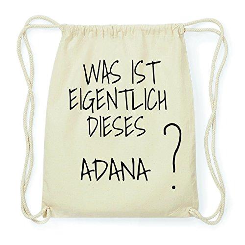 JOllify ADANA Hipster Turnbeutel Tasche Rucksack aus Baumwolle - Farbe: natur Design: Was ist eigentlich