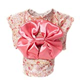 WuKong Multi-size Spring and Summer Pet Dog Clothes Teddy Hiromi Floral Kimono Dress (M, Pink)