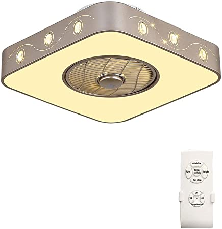 Ventilador techo Luz Lampara Y Mando A Distancia De Tres ...