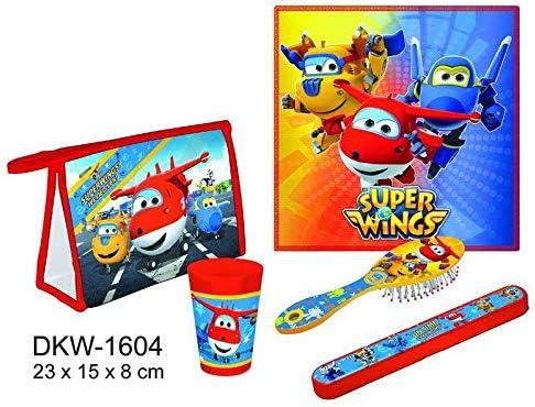 Rojo Super Wings Set Aseo Viaje Juegos ba/ño Alfombrillas Accesorios para ba/ñera Decoraci/ón del hogar Unisex Adulto /única