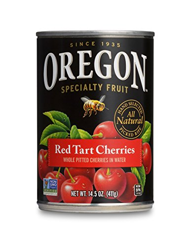 Oregon Fruit Pitted Red Tart Cherries in Water, 14.5-Ounce Cans (Pack of 8) (Red Tart Cherries)