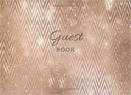 New Book Rose Gold Glitter Cover 120 Blank Lined Pages For Over 5.. Guest Book