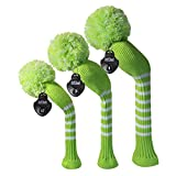 Scott Edward Ladies Golf Club Head Covers Set of 3, fit for Driver Wood(460cc), Fairway Wood,Hybrid(UT),for Female Golfers,Individualized Looking and Washable