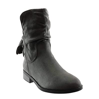 Bottine Angkorly Souple Botte Cavalier Femme Mode Noeud Chaussure BrqEH