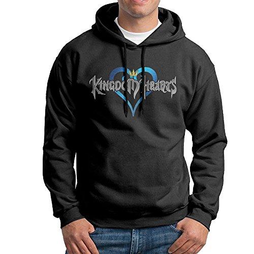 Kingdom Hearts Aqua Cosplay Mens Fleece Pullover Hooded Sweatshirt Black