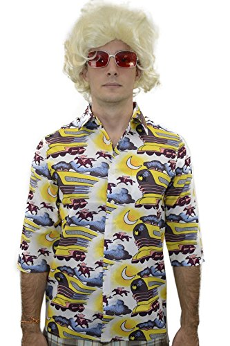 BTTF 2 DOC Train Shirt Back to the Future Dr Emmett Brown - Brown Glasses Doc