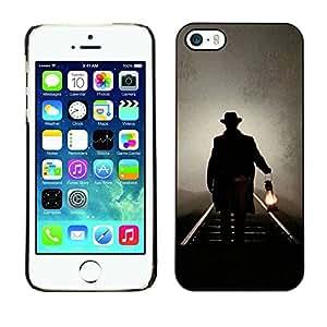 TopCaseStore / la caja del caucho duro de la cubierta de protección de la piel - Lantern Oil Light Night Mysterious - Apple iPhone 5 / 5S
