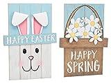 Burton & Burton Reversible Easter with Spring Wood Sign