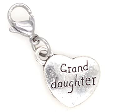 3ed590058 Granddaughter Clip on Charm Perfect for Necklaces Bracelets 95H: Jewelry