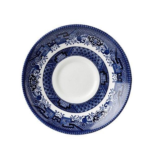 Churchill Blue Willow Fine China Earthenware Tea Saucer 5.5