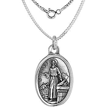 Amazon.com: Plata de ley St. Luke El Apóstol/Doktor Pend con ...