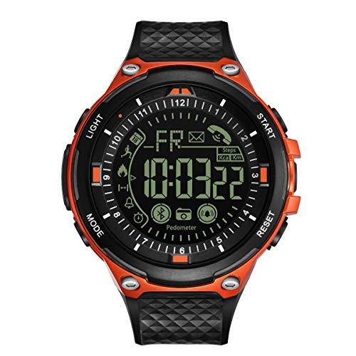 Upgraded T7 Electronic Fitness Tracker Digital Sports Bluetooth Smart Watch Waterproof Pedometer Remote Camera Call or Message Notification Reminder ...