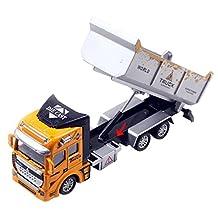 Aivtalk Vehicle Pull Back Action Car Model Toys Transport Car Carrier Model Truck Toys for Boys