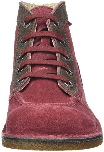 Kickers Legendoknew Dames Boots Rouge (bordeaux Marron Fce Violet)