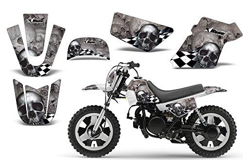 Checkered Skull-AMRRACING MX Graphics decal kit fits Yamaha PW50 All (Yamaha Decal Kits)
