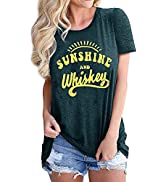 Women Funny Graphic Tops Workout Comfy Shirt Summer Loose Casual Tee Tops