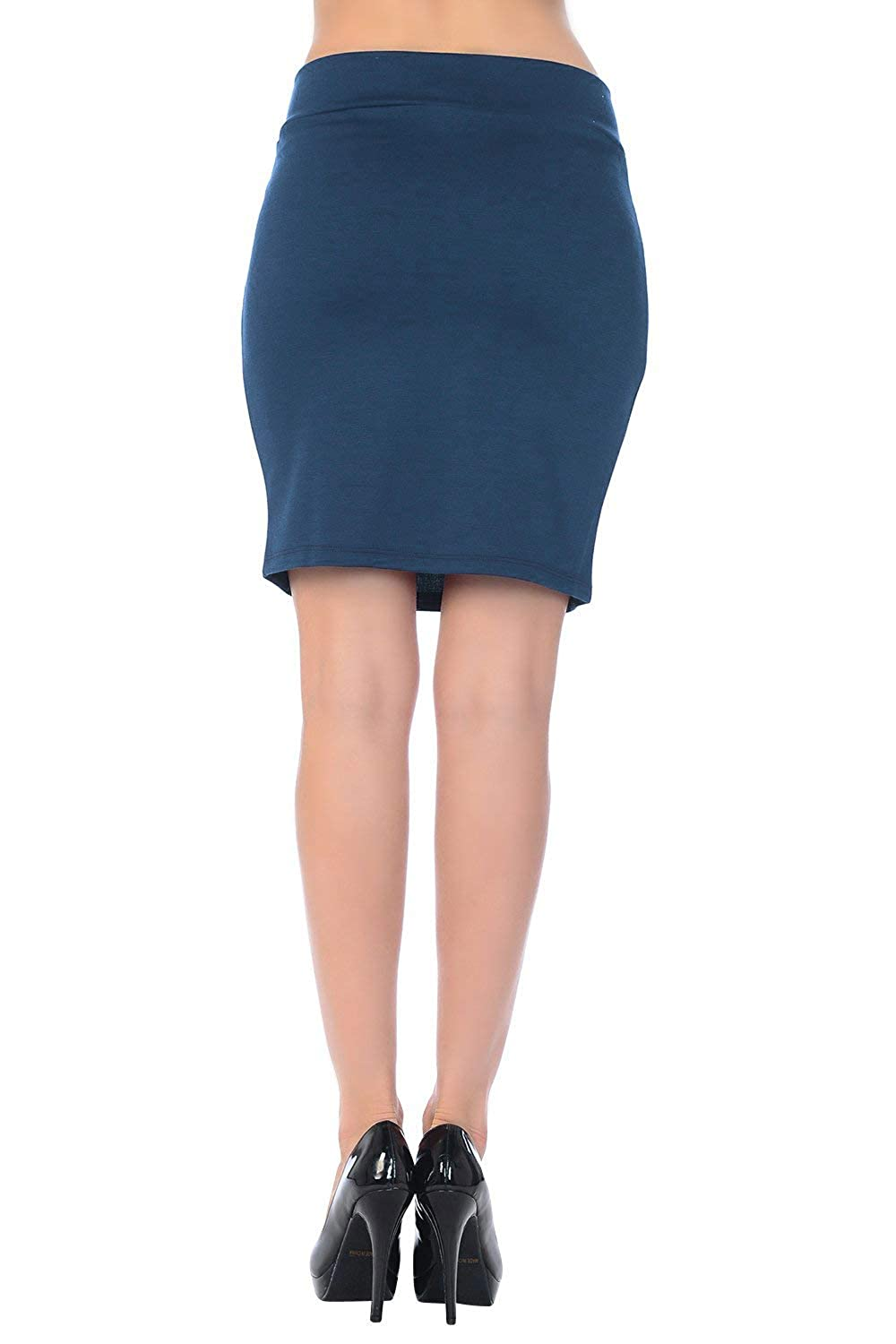 Skirts Analytical New Preview Kylie Pencil Knit Skirt Navy Floral Fine Quality