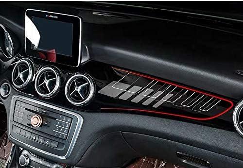 SHES 2Pcs Set ABS in fibra di carbonio Car Center Console Aria condizionata Decorazione pannello ABS per GLA X156 CLA C117 2013-19